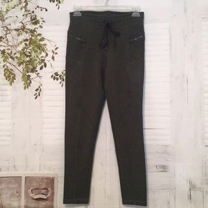 Free People movement army green leggings sz Small